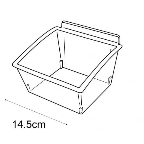 14cm budget dump bin-slatwall (trays & tubs for slatwall)