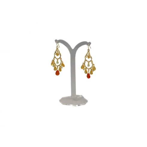 14cm tree stand: clip & hook earrings (earring display)