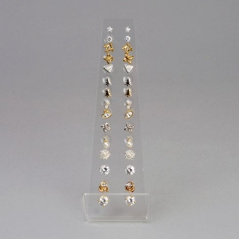 15 pair stud display (acrylic jewellery & earring display)
