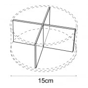 15cm circular tray dividers: pair (retail equipment extras)