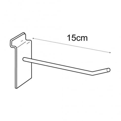 15cm prong-slatwall: pack of 100 (metal slatwall hooks & prongs)