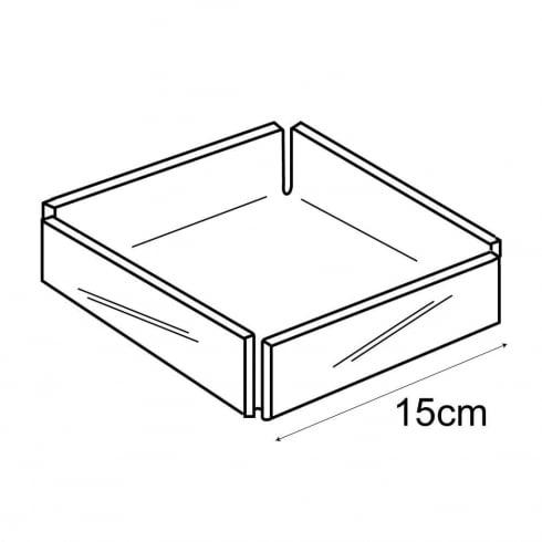 15cm square tray (acrylic trays & tubs)