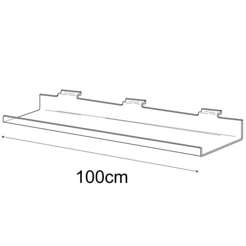 15cmx100cm lipped shelf-slatwall (slatwall acrylic shelf)