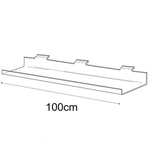 15cmx100cm lipped shelf-slatwall (slatwall acrylic shelf)