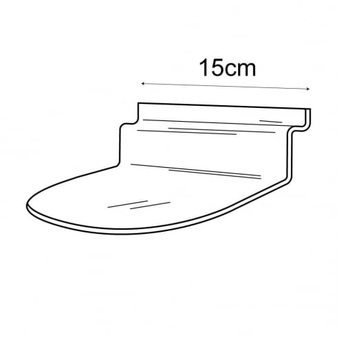 15cmx15cm curved shelf-slatwall (acrylic slatwall shelves)