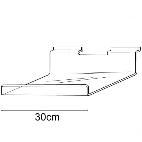 15cmx30cm lipped shelf-slatwall (slatwall acrylic shelf)