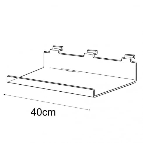 15cmx40cm lipped shelf-slatwall (slatwall shelves )