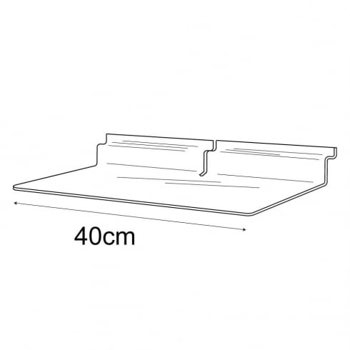 15cmx40cm shelf-slatwall (acrylic slatwall shelves)