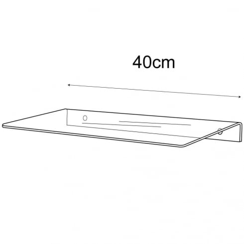 15cmx40cm shelf-wall (acrylic shelving)