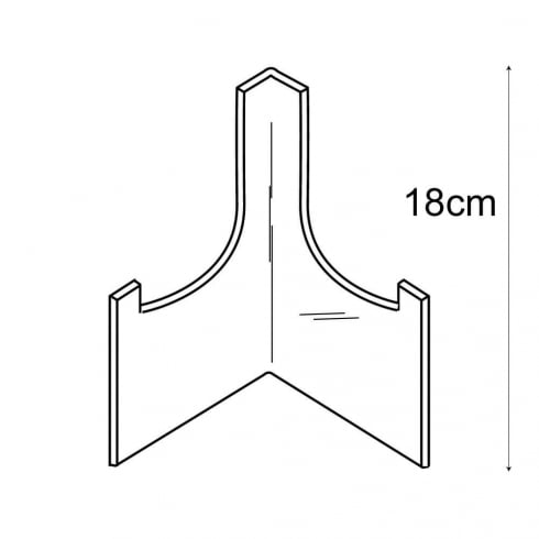18cm plate stand (acrylic plate stands: shop equipment)