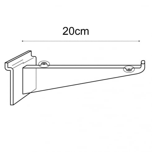 20cm bracket-slatwall (slatwall shelf bracket)