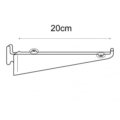 20cm bracket-wallstrip (wall strip shelving system)