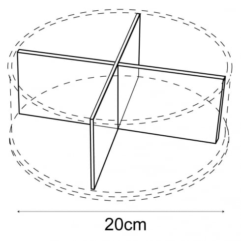 20cm circular tray dividers: pair (retail equipment extras)