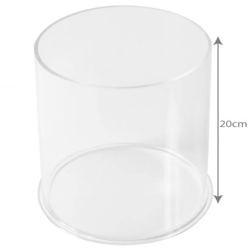 20cm circular tub (acrylic tubs & containers)