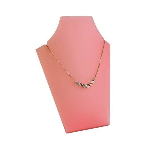 20cm necklet: curved front (necklace display)