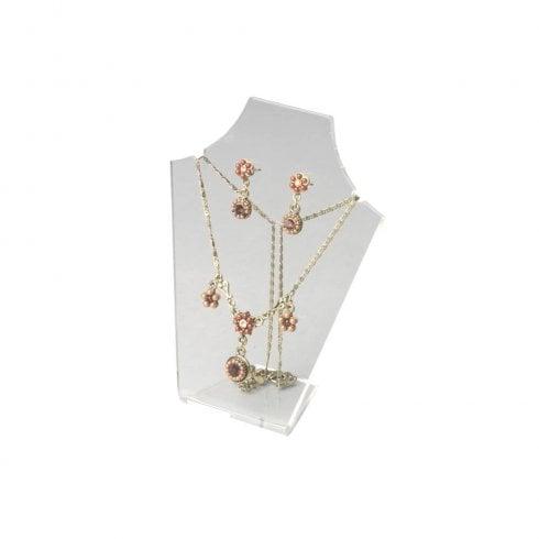 20cm necklet: flat front (acrylic necklet jewellery display)