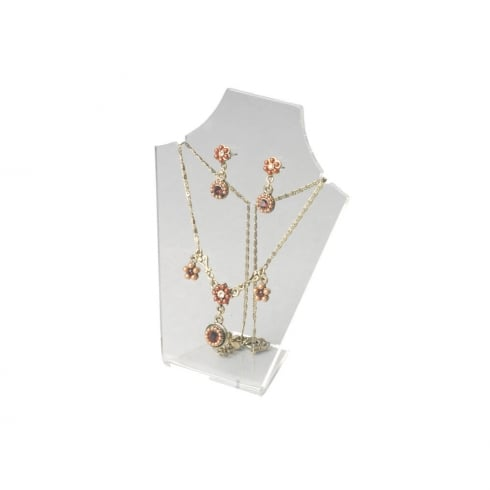 20cm necklet: flat front (acrylic necklet jewellery display)