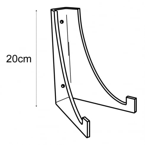 20cm plate stand-wall (acrylic plate stands: shop equipment)