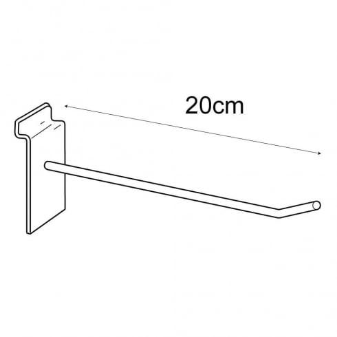 20cm prong-slatwall: pack of 100 (metal slatwall hooks & prongs)
