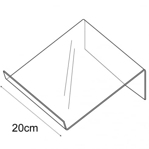 20cm shallow support (general purpose retail equipment)