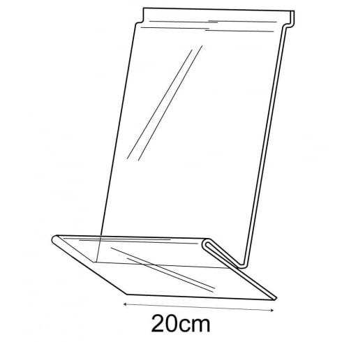 20cm shirt display-slatwall (slatwall acrylic shelf)