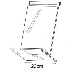 20cm shirt display-slatwall (slatwall acrylic shelf)