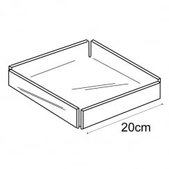 20cm square tray (acrylic trays & tubs)