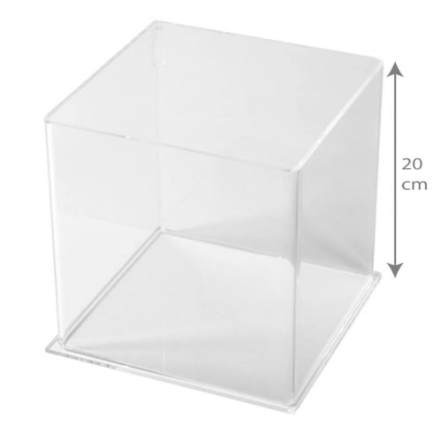 20cm square tub (acrylic tubs & containers)