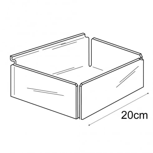 20cm tray-slatwall (acrylic containers & trays)