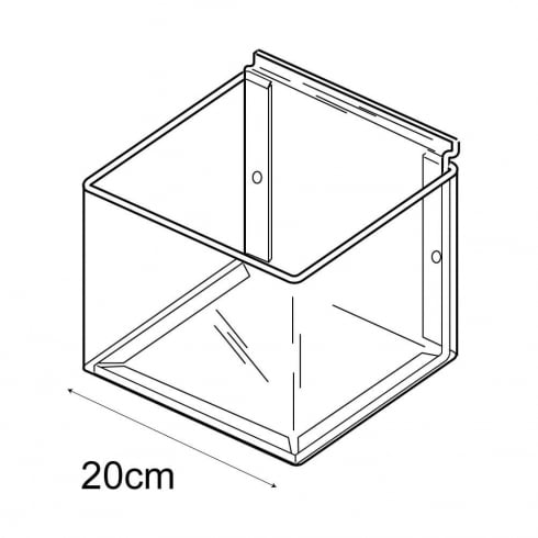 20cmx20cm bin-slatwall (trays & tubs for slatwall)