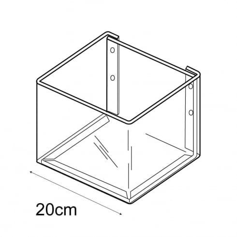 20cmx20cm bin-wall (wall fixing trays & tubs)