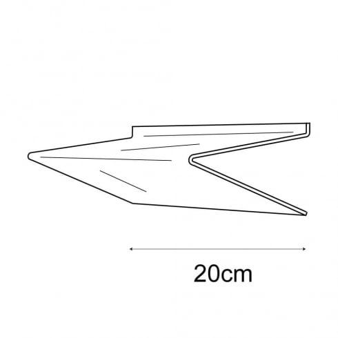 20cmx20cm heavy duty shelf-slatwall (acrylic shelves: slatwall)