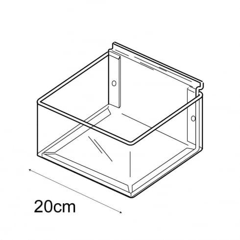 20cmx20cm tray-slatwall (trays & tubs for slatwall)