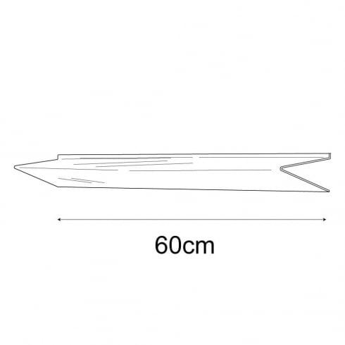 20cmx60cm heavy duty shelf-slatwall (acrylic shelves: slatwall)