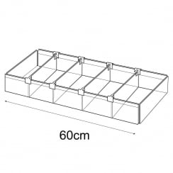 20cmx60cm tray: adjustable dividers (containers & trays: retail display)