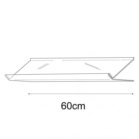 21cmx60cm lipped sloping display-slatwall (slatwall acrylic shelf)
