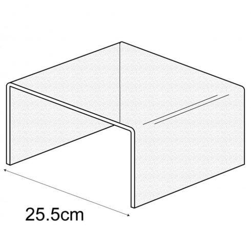 25.5 cm shelf riser (acrylic display stands)