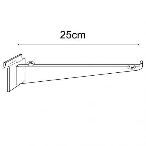 25cm bracket-slatwall (slatwall shelf bracket)