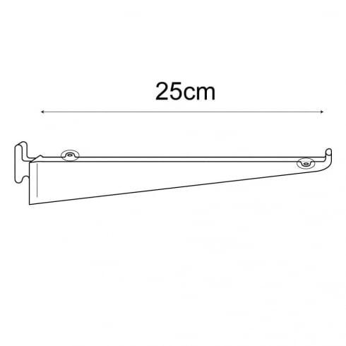25cm bracket-wallstrip (wall strip shelving system)