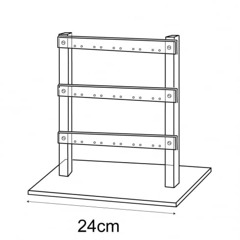 25cm ladder: all types of earrings (acrylic earring displays)