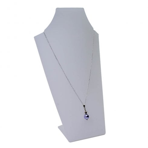 25cm necklet: curved front (Perspex ® acrylic jewellery display)