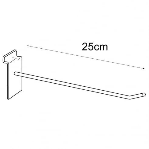 25cm prong-slatwall: pack of 100 (metal slatwall hooks & prongs)