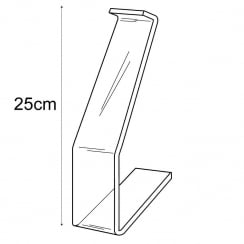 25cm shoe stand (acrylic shoe display)