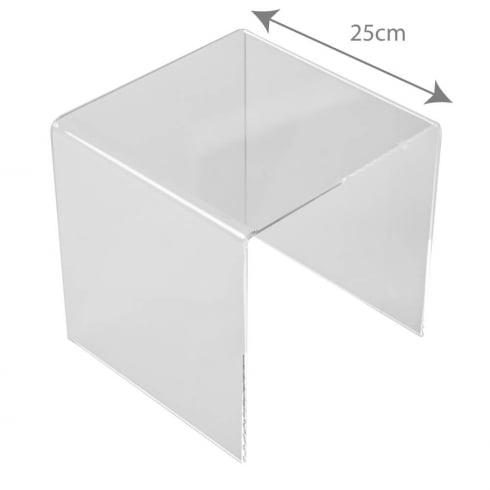 25cm three sided stand (acrylic display stands)