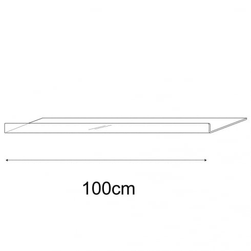 25cmx100cm reversible shelf (acrylic shelf)