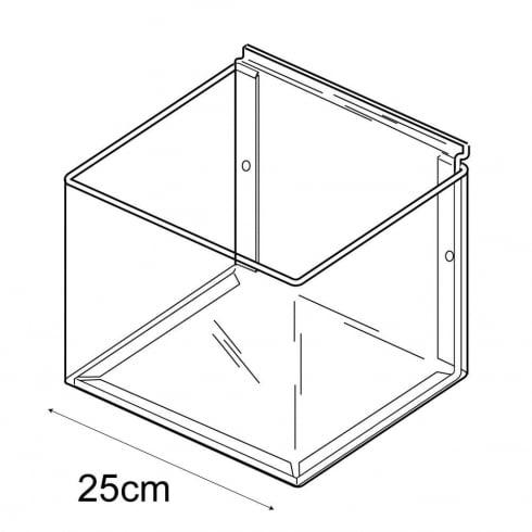 25cmx25cm bin-slatwall (trays & tubs for slatwall)