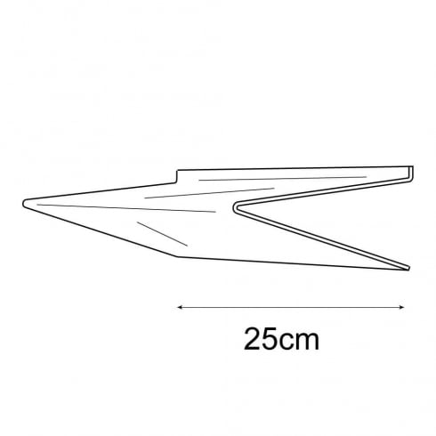 25cmx25cm heavy duty shelf-slatwall (acrylic shelves: slatwall)