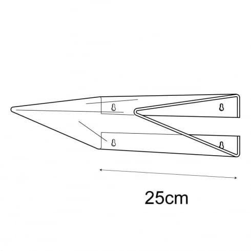 25cmx25cm heavy duty shelf-wall (acrylic shelving)