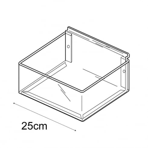 25cmx25cm tray-slatwall (trays & tubs for slatwall)