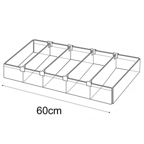 25cmx60cm tray: adjustable dividers (containers & trays: retail display)
